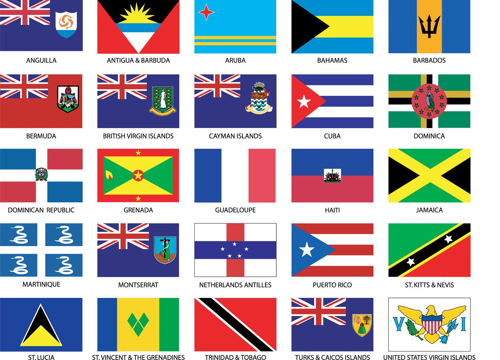 Caribbean Countries Flags & Embassy Services | West Indian Social Club ...