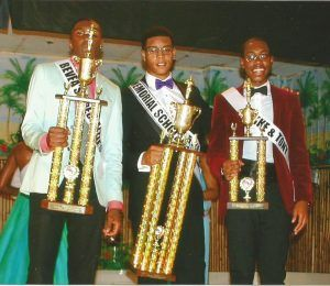 Male Winners (Pictured Left to Right) 1. Julian Nugent (First Runner-Up) - Sponsor: Bevea's Specialties 2. John Graham (Winner - Mr. West Indian) - Sponsor: Greens Farm 3. Shamar Mahon (2nd Runner-Up) - Sponsor: Mike and Tony's Auto Repair