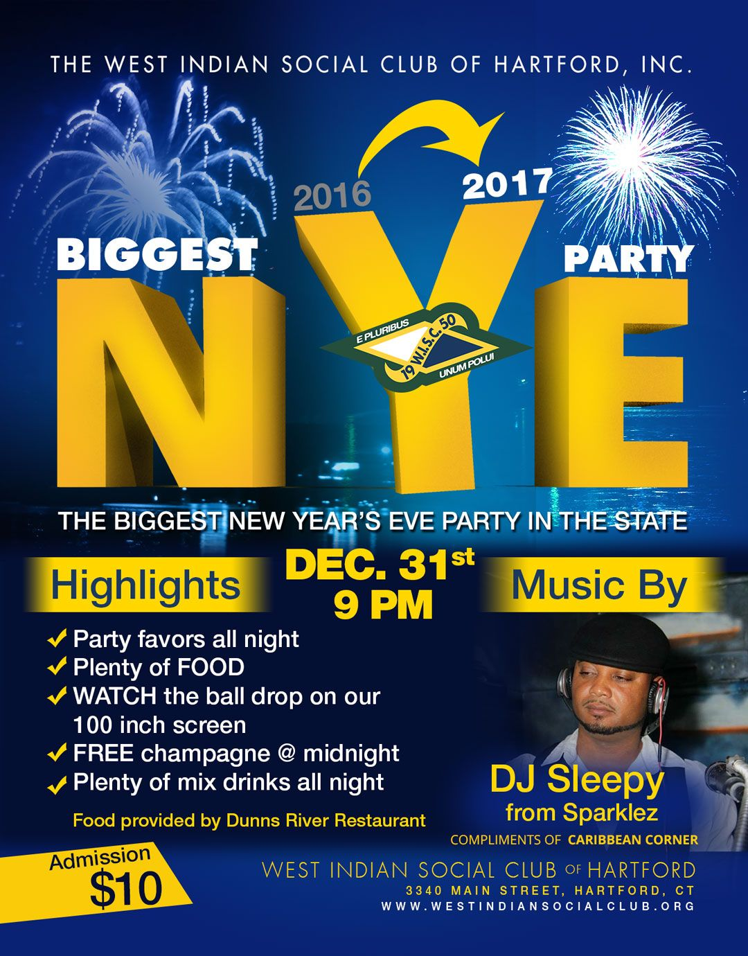 WISCOH New Year's Eve 2016 Flyer
